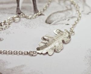 Image of *NEW* oak leaf bracelet in 9ct gold or silver