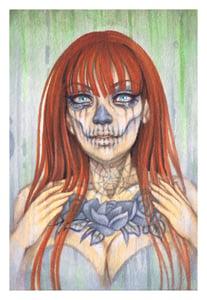 Image of Ginger Sugar Skull Print
