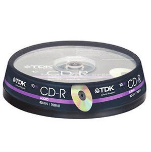 Image of 10 CD-R 700Mo 80Min cakebox TDK