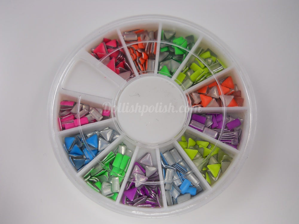 Dollish Polish — NEON STUD NAIL ART WHEEL - Several Shapes To Choose ...