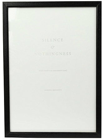 "Image of SILENCE ART PRINT Nº3 ""Every word is like an unnecessary stain..."" Samuel Beckett"