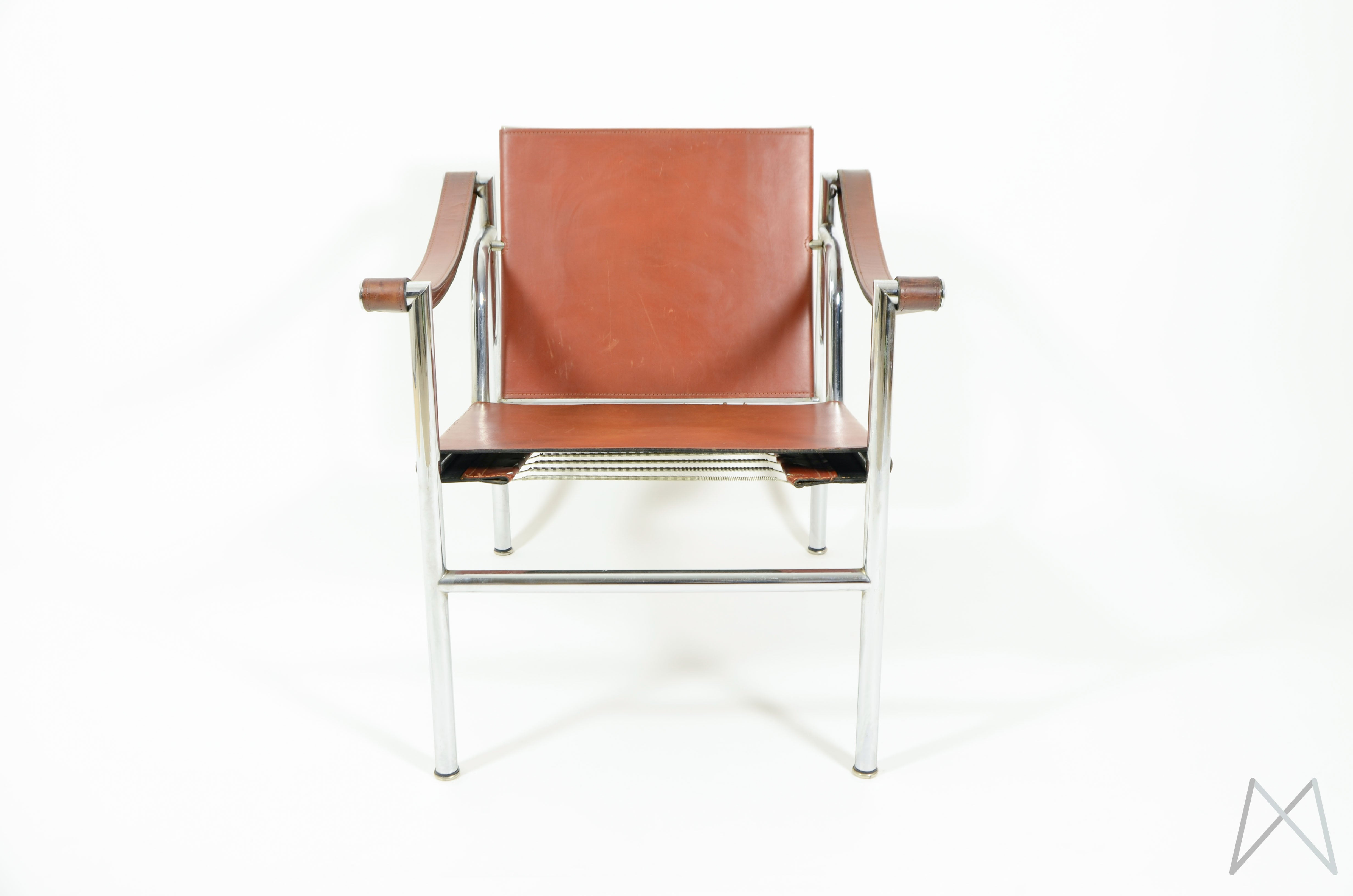 ... Image Of Le Corbusier LC1 Sling Chair By Cassina Original Cognac Brown  Leather ...