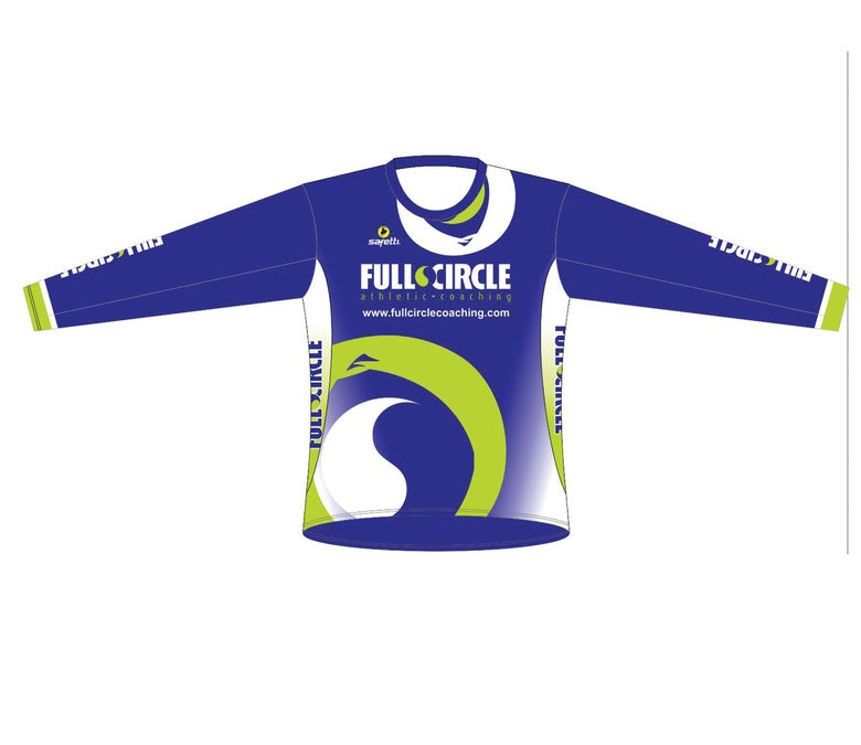 Image of Long Sleeve Running Shirt - LADIES & MEN - Black/Blue/White
