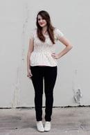 Image 3 of women's PENELOPE knit PEPLUM PDF +