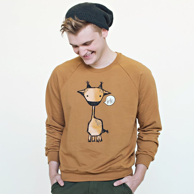 "Image of ""Marty the Giraffe"" Unisex Crew Neck Sweater"