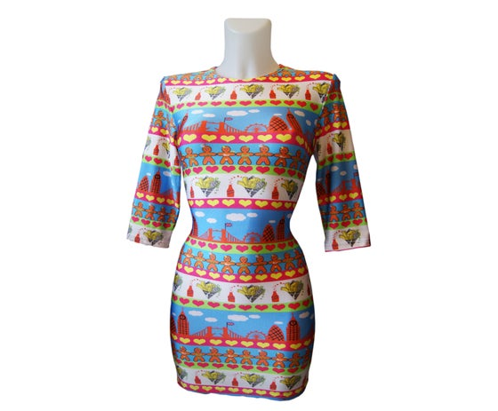 Image of 'SKYLINER' Print Lycra Dress