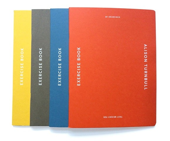 Image of Alison Turnbull Exercise Book - All 4 Colours for £60