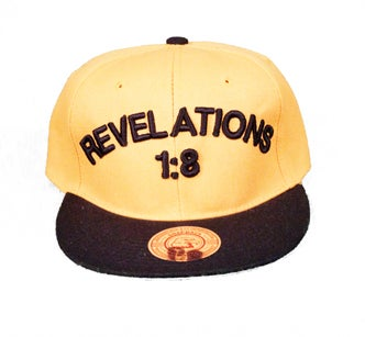 Image of REVELATIONS 1:8 BLACK/GOLD (ALPHA)