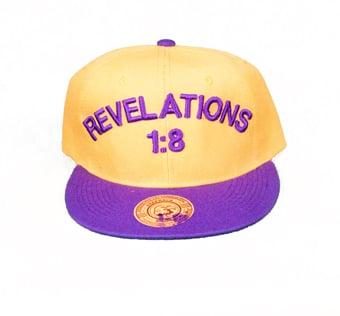 Image of REVELATIONS 1:8 PURPLE/GOLD (OMEGA)