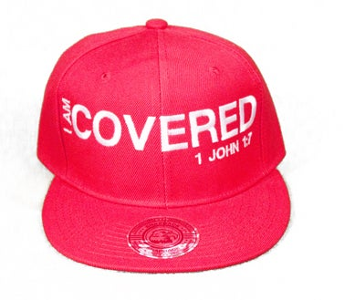 Image of I AM COVERED 1 JOHN 1:7 SNAPBACK