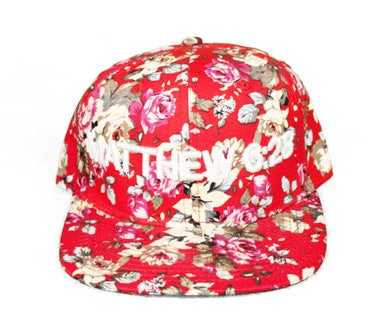 Image of MATTHEW 6:28 FLORAL SNAPBACK