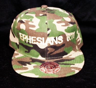 Image of EPHESIANS 6:11 PLAIN CAMO SNAPBACK SPECIAL ORDER ONLY