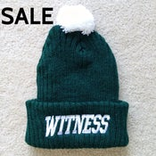 Image of Green/White Bobble Hat