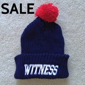 Image of Navy/Red Bobble Hat