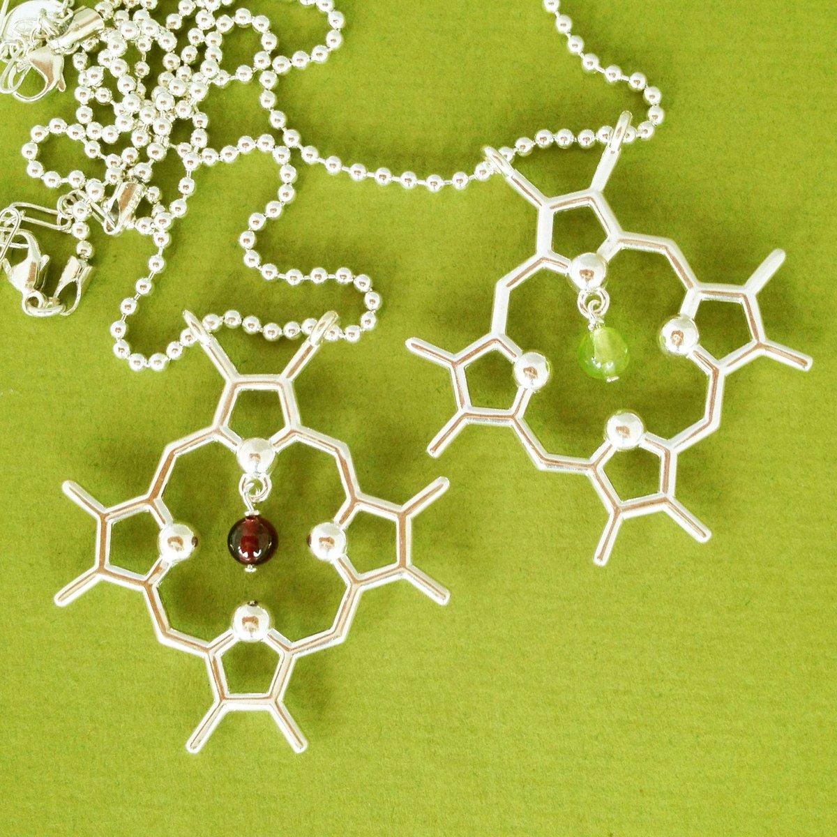 Image of chlorophyll/heme necklace