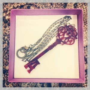 Image of Large Personalised Initial Ornate Key £20 delivered