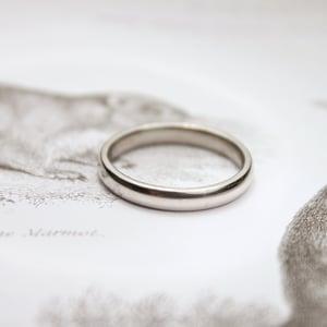 Image of Platinum 3mm plain court ring