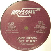 Image of LOVE CRYME - Get It On - FFFreak - MODERN FUNK BOOGIE 12