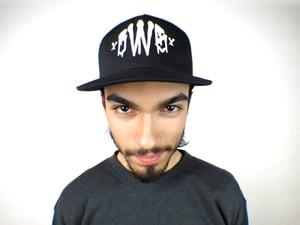 "Image of BWS92 ""Murder Font"" Trucker Hat (WHT)"