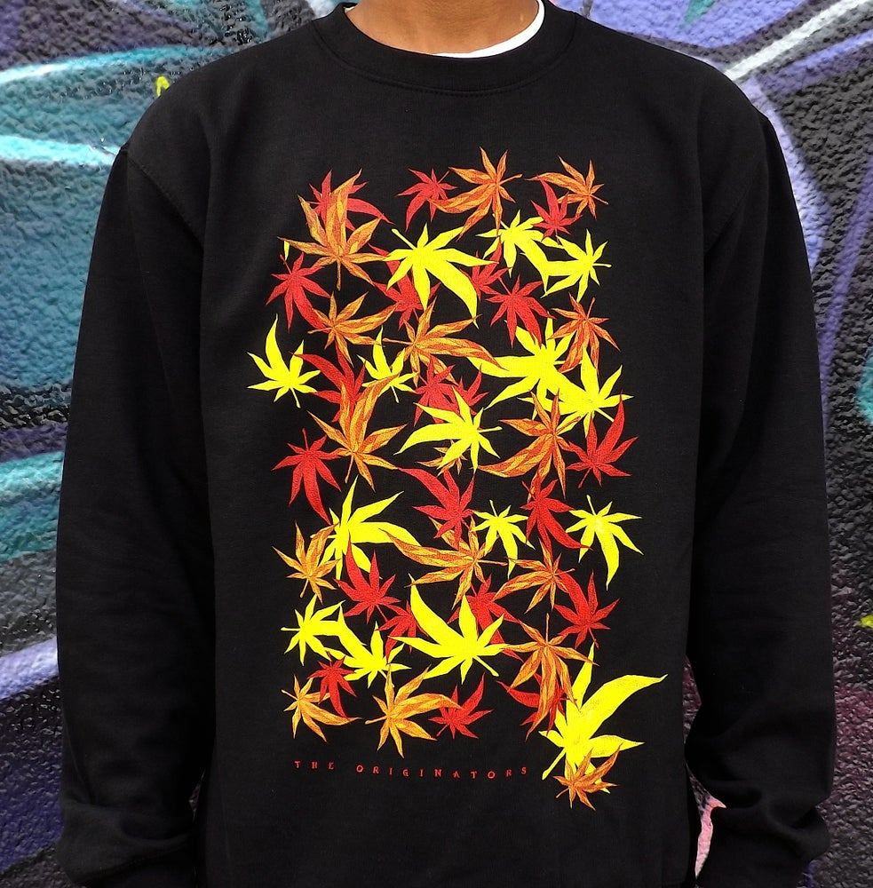 Image of FALLING LEAVES CREW-NECK