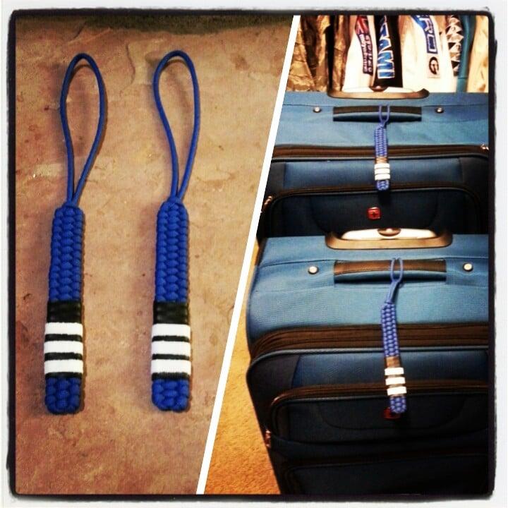 Image of Paracord BJJ Rank Baggage Tag
