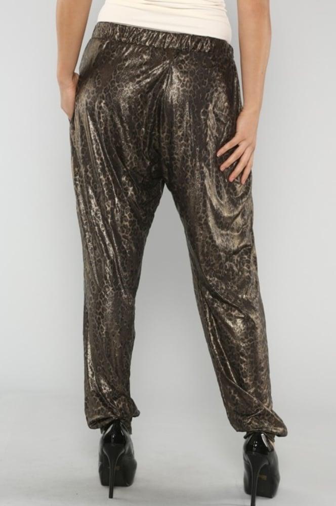 Image of Metallic Leopard Pant - Plus