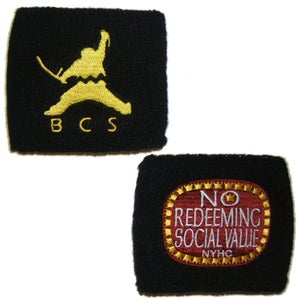Image of BILLY CLUB SANDWICH and NO REDEEMING SOCIAL VALUE Embroidered Wristbands