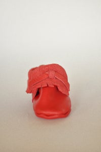 Image of Red Leather Moccasin