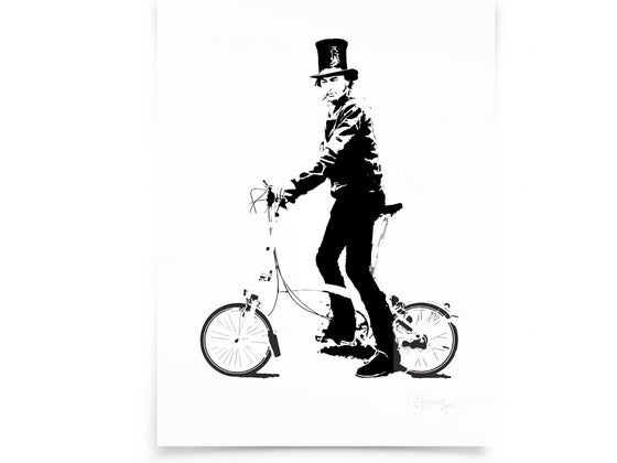 Image of Brunel on paper - Screenprint