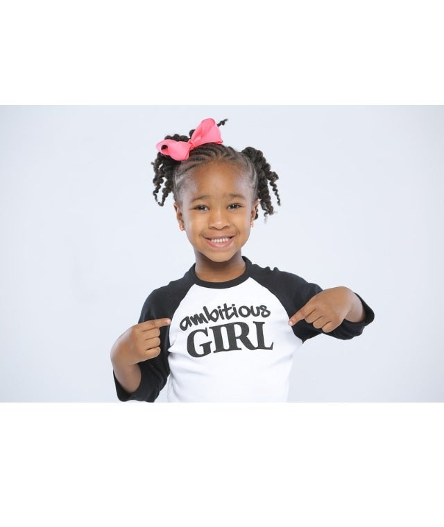 "Image of Kids ""Ambitious Girl"" long sleeve tee"