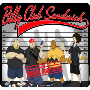 """Image of BILLY CLUB SANDWICH """"Usual Suspects"""" Mousepad"""