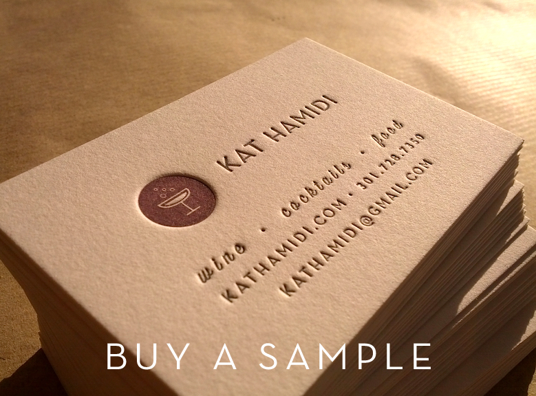 Image of Sample Business Card // Letterpress Business Card