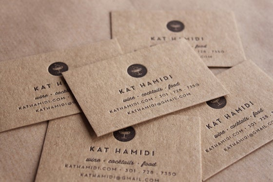 Image of Letterpress Business Cards, Recycled // made to order - set of 200