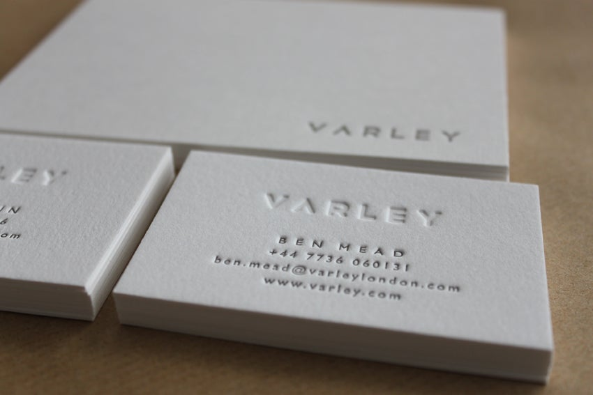 Letterpress business cards and wedding invitations maple tea image of letterpress business cards on pure white cotton stock made to order reheart Images