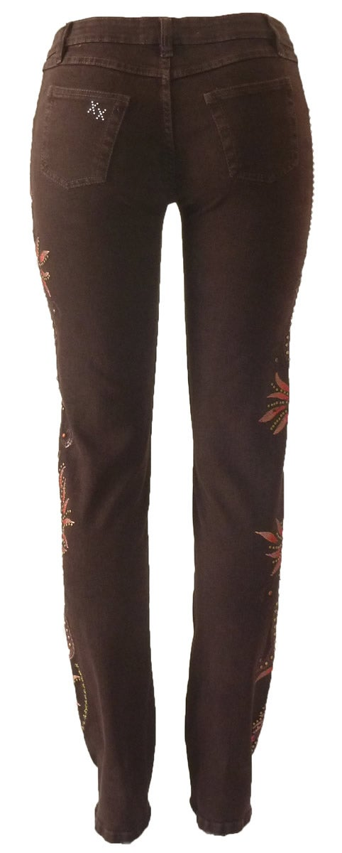 Studded Feather Jeans 13W131P