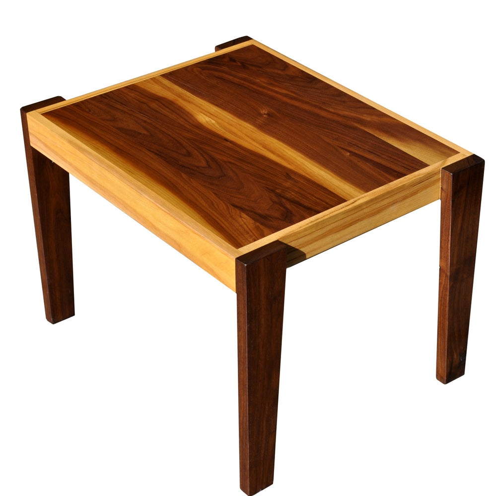 Image of WALNUT & MAPLE OCCASIONAL TABLE