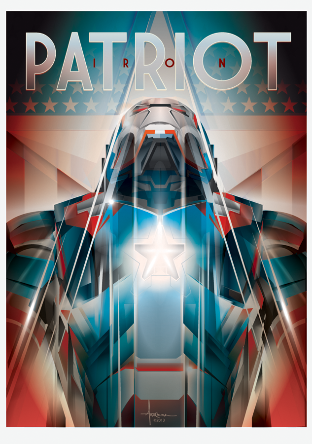 Image of IRON PATRIOT-Iroman vector tribute