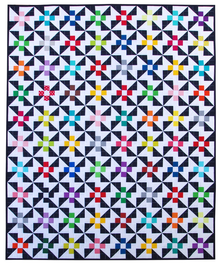Image of Pinwheels and Daisies Quilts Pattern (pdf file)