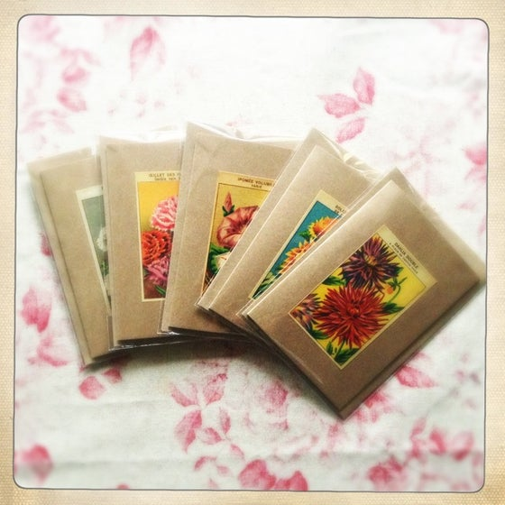 Image of 5 Flower Greeting Cards