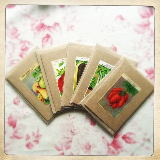 Image of 5 Vegetable Greeting Gards
