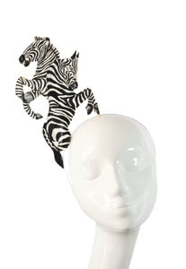 Image of Hand Painted Zebra Fascinator