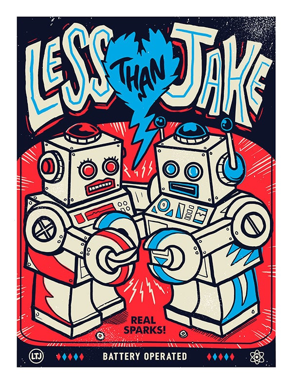 Image of Less Than Jake 'Bots'  Print