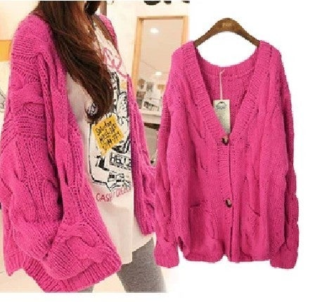 Image of Fashion twist loose cardigan sweater