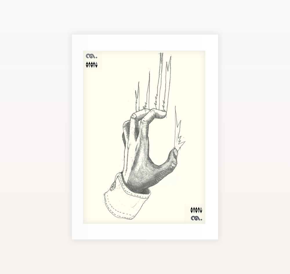 Scratch - Ltd edition Screen print