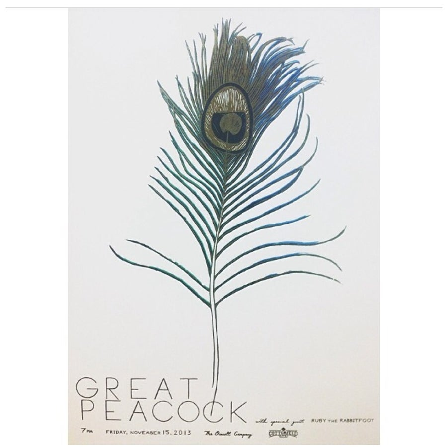 Image of Great Peacock Show poster