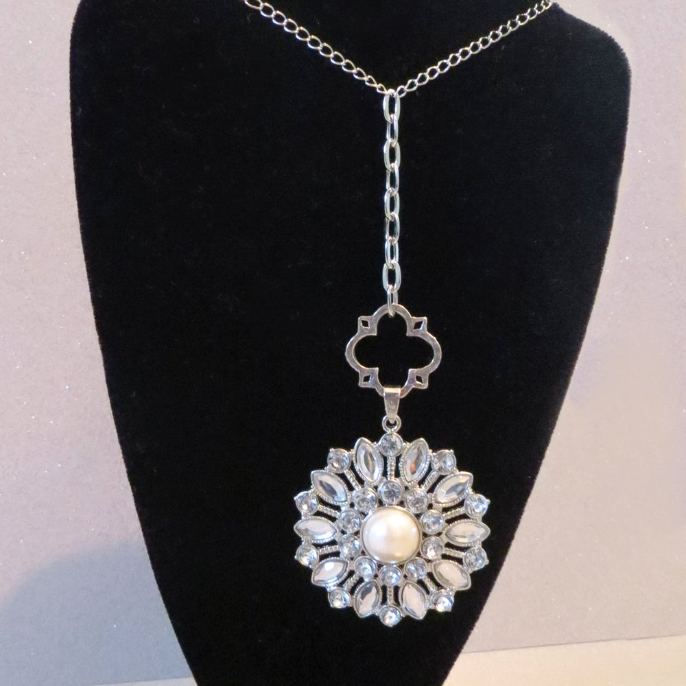 Image of Snow-Day Jeweled Necklace - Originally 32.00