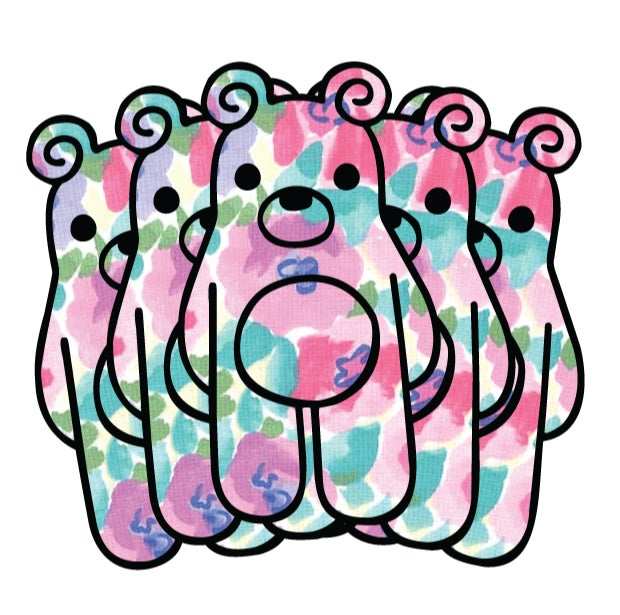 Image of Fresh Filth Floral Bear Stickers (Pack of 5)
