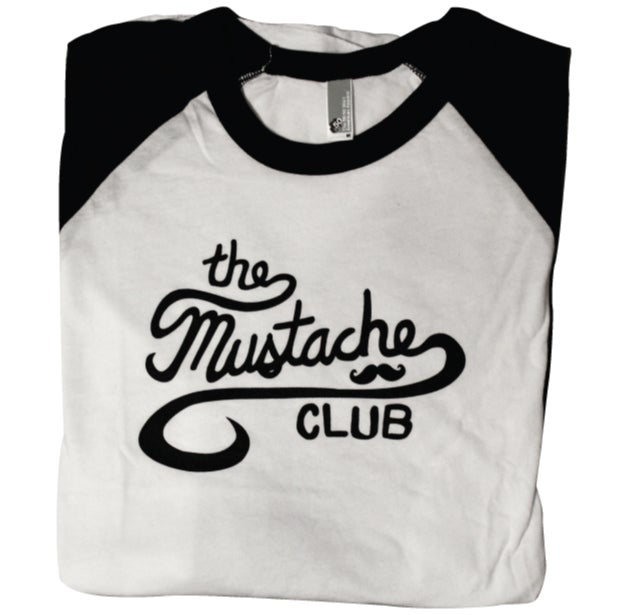 Image of The Mustache Club Baseball Tee