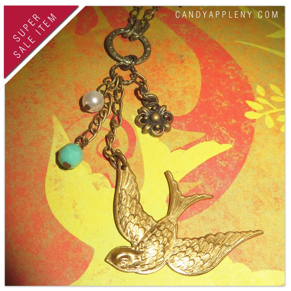 Image of Pretty Bird Golden Necklace - Originally 22.00