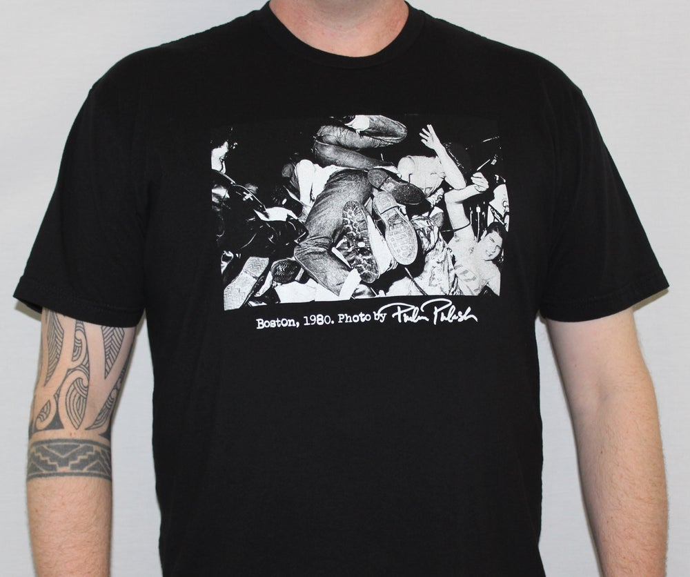 "Image of ""Boston 1980 / Boots"" Philin Phlash Men's Punk Shirt [Black]"